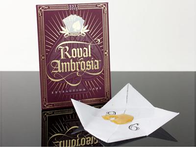 Royal Ambrosia bho foil packaging marijuana shatter cannabis