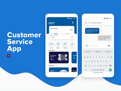 Customer Service App android app design android mobile ui mobile app design mobile app minimalist customer service adobe xd