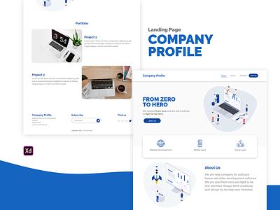 Landing Page - Company Profile company profile landing page ui landing page ladingpage simple design jumbotron minimalist adobe xd