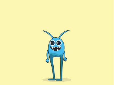 Little Monster yellow vector art vectors graphics designer monster