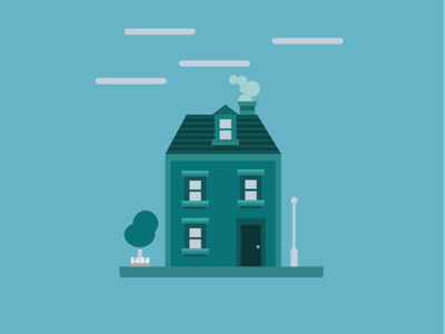 Litte House flat illustration flat  design flatdesign vector illustration vectorart house illustration minimalism minimalist