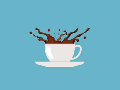 Coffee Splash vector illustration vectors vectorart flat illustration flat  design flatdesign