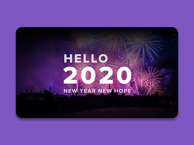 Hello 2020 design newyear night fireworks website design web design webdesign web website jumbotron adobe xd minimalist newyears