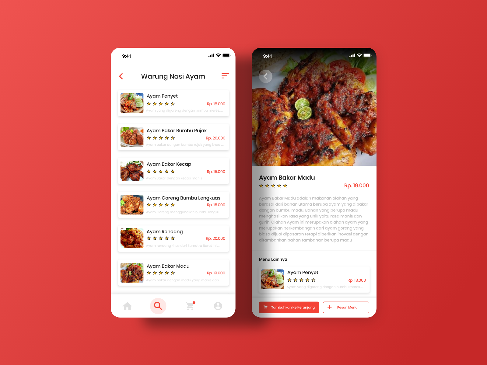 Food Menu By Indri Junanda On Dribbble