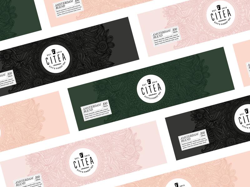 Citea - Packaging handdrawn design packaging illustration tea amsterdam branding