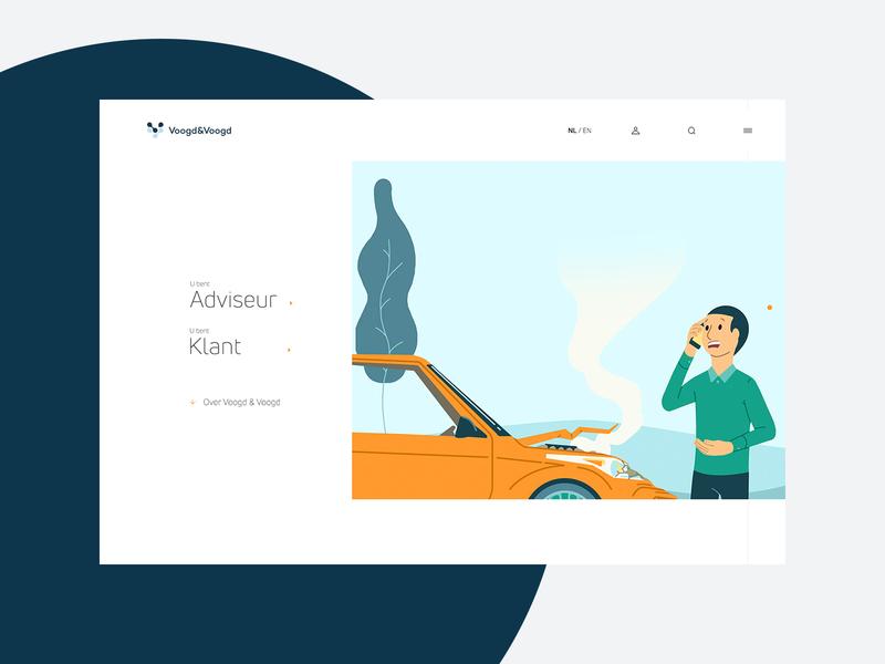 Voogd & Voogd - Corporate website ui branding insurance corporate design