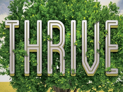 Thrive typography poster