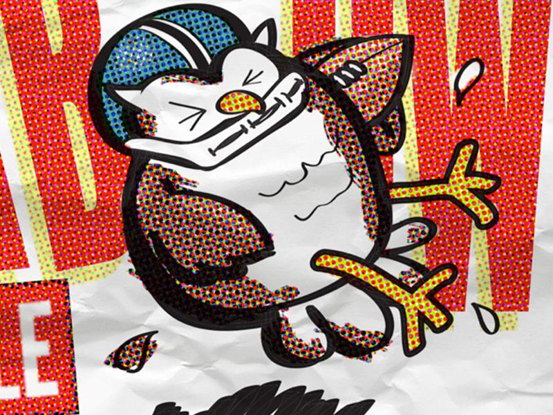 Superb Owl illustration