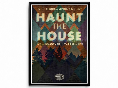"""""""Haunt the House"""" Concert Poster concert poster typography music print"""