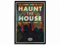"""Haunt the House"" Concert Poster"