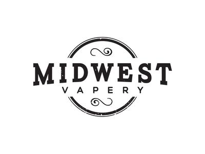 Midwest Vapery Logo nexa carton midwest typography logo vape smoke