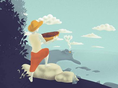 Flight Coffee Co. Illustration packaging print coffee illustration