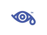 Tear & Eye Logo teardrop drop tear purple eye line logo monoweight