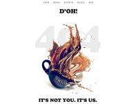 404 | Union Coffee Co. logo typography website web design cafe coffee 404