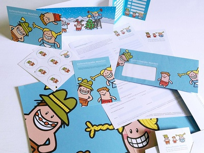 Logo, characters and corporate design for children orthodontics