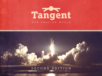 Tangent textbook education vintage logo science