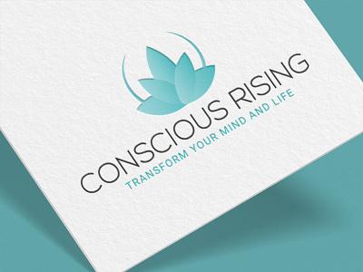 Conscious Rising Transform Your Mind and Life brandingdesign graphics portfolio creativedesign logoportfolio branding illustration graphicsdesign marketing artist designer logo