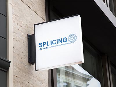Splicing | Logo Design | Graphic Design typography design marketing artist designer logo