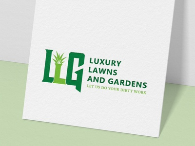 Luxury Lawns and Gardens | Logo Design | Graphic Design brand illustration designer