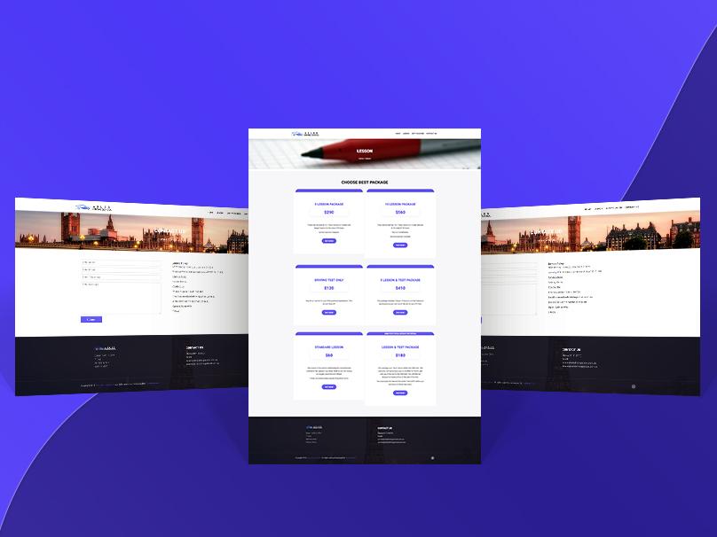 Axles Driving School | Web Design advertising creative technology designer wordpress web design