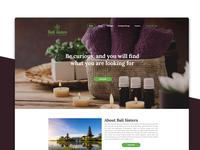 Bali Sisters | Web Design | UI & UX Design