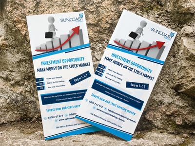 SUNCOAST Trading | Flyer Design | Graphic Design