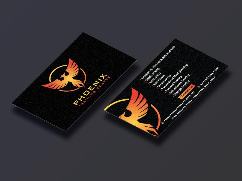 Phoenix Training Center | Business Card Design | Graphics graphics designinspiration designer creative illustration design grahic design brand and identity branding