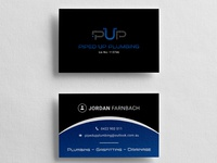 Piped Up Plumbing | Business Card | Graphic Design