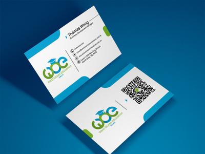 West Ocean Education   Business Card   Graphic Design