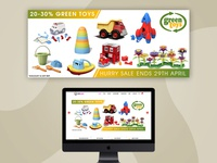 ThinkFun GreenToys Siku | Banner Design | Graphic Designs