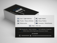 Totally Mobile Roadworthy  | Business Card Design