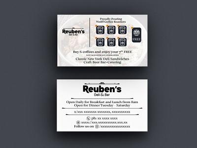 Reubens Deli | Business Card Design businesscarddesign marketing socialmedia unique creative graphicsdesign designs businesscard