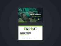Oneout | Business Card Design | Graphic Design