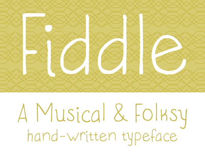 Fiddle Font fiddle font musical folksy chartreuse typeface hand-written