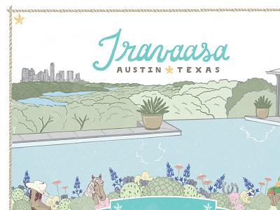 Travaasa Calendar illustration lettering calendar