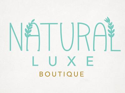 Natrual Luxe logo logo type
