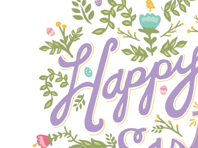 Easter card for American Greetings easter illustration card type hand-drawn