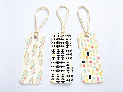 Patterned Gift Tags patterns gift tags set of 9 packaging