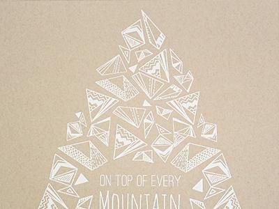 Mountain Poster mountain kraft white silkscreen dirty projectors