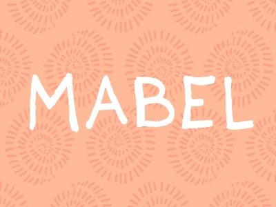 Mabel mabel font typeface hand drawn sweet merry creative market creativemarket