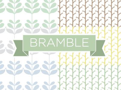 Bramble creative market vector pattern brushes bramble background