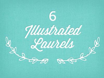 Laurels creative market laurels vector art floral
