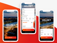 Helmet Library signup screen - Daily UI #001