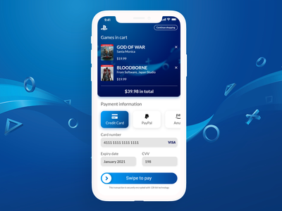 Redesign PlayStation Store checkout