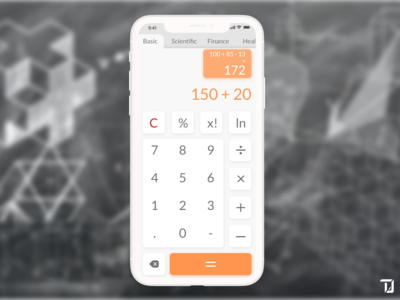 Simple calculator app interface