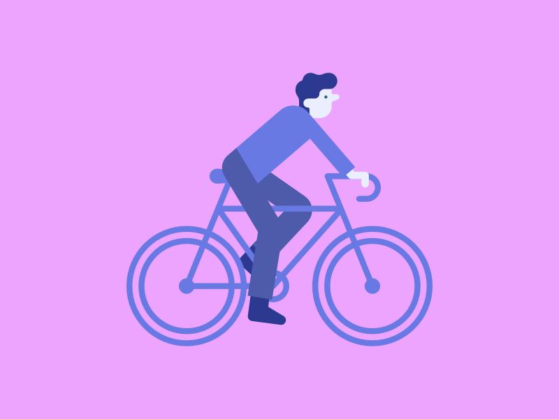 Biking bicycle gradient illustration cycling biker biking bike