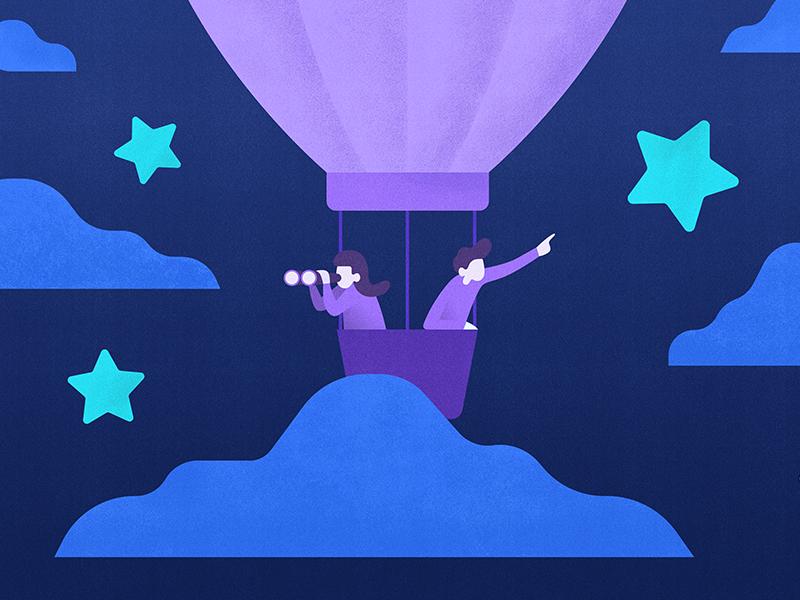 7-Star Design Principle balloon hot air balloon star illustration startup blog design thinking design