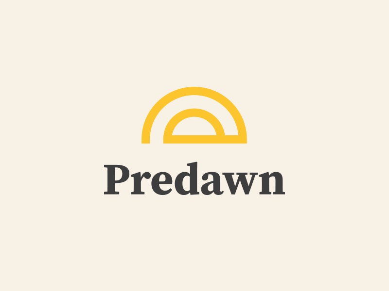 Predawn Logo typography sun serif predawn dawn icon design logo