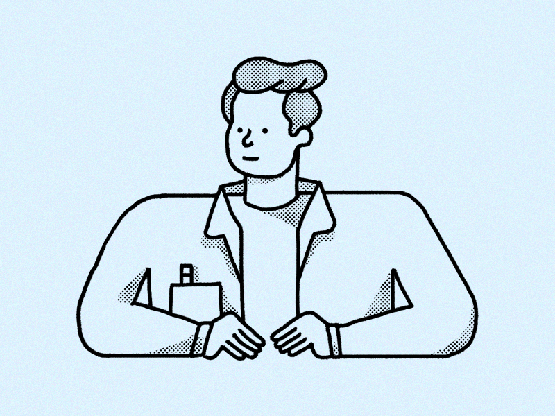 new year, new me profile avatar print zine halftone illustration