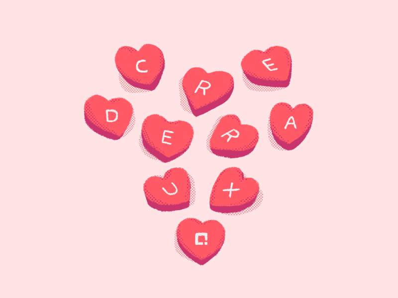 Valentine's Day Post halftone illustration heart valentines day valentines candy